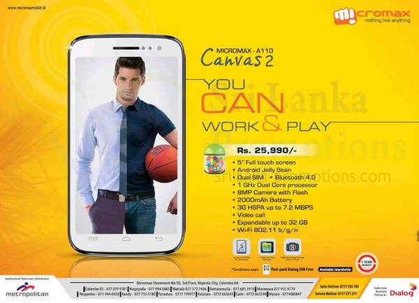 Featured image for Micromax Canvas 2 Android Smartphone Features & Price 11 Aug 2013