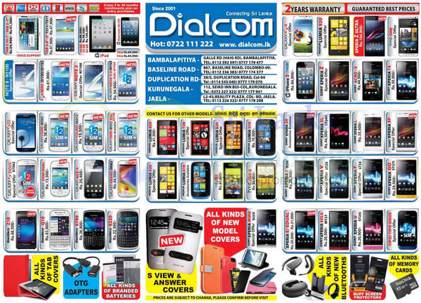 Featured image for Dialcom Smartphones & Mobile Phones Price List Offers 15 Sep 2013