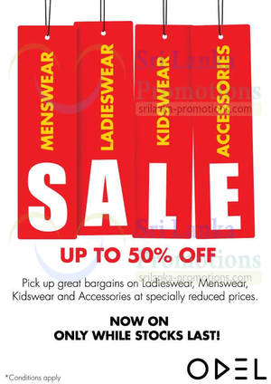 Featured image for Odel Fashion SALE Up To 50% Off 30 Sep 2013