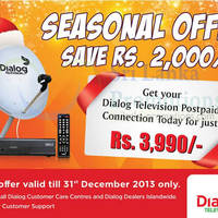 Read more about Dialog Television Postpaid Connection Promo 22 Nov - 31 Dec 2013