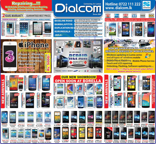 Featured image for Dialcom Smartphones & Mobile Phones Price List Offers 15 Dec 2013