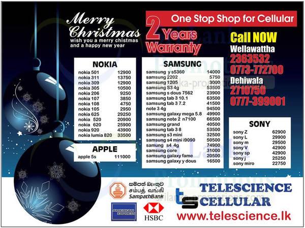 Featured image for Telescience Cellular Smartphones & Mobile Phones Offers 13 Dec 2013