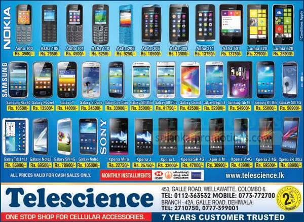 Featured image for Telescience Cellular Smartphones & Mobile Phones Offers 2 Dec 2013