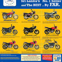 Check out the latest Bajaj motorcycle bikes prices from David Pieris Motor Company