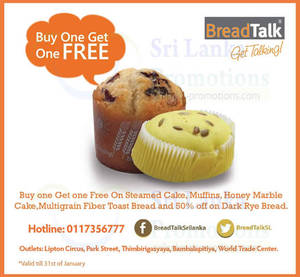 Featured image for BreadTalk 1 For 1 Promo @ All Outlets 23 – 31 Jan 2014