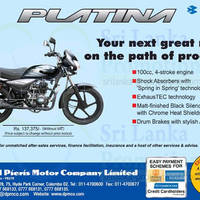 Read more about Bajaj Platina Motorcycle Features & Price 5 Jan 2014