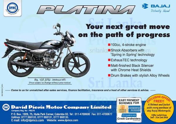 Featured image for Bajaj Platina Motorcycle Features & Price 5 Jan 2014