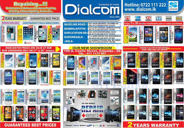 Featured image for Dialcom Smartphones & Mobile Phones Price List Offers 29 Dec 2013