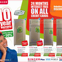Read more about Singer Refrigerator Special Price Offers 30 Jan 2014