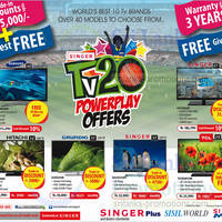 Read more about Singer, Samsung, TCL & More TV Offers 9 Mar 2014