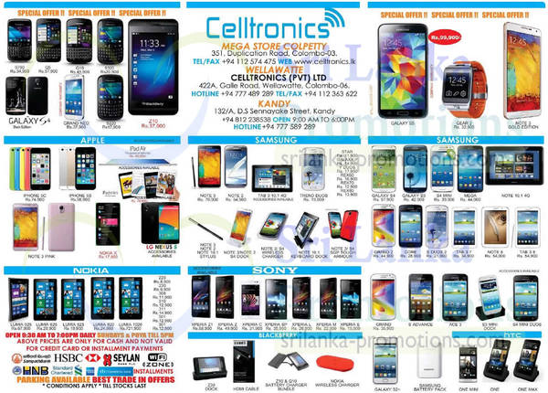Featured image for Celltronics Smartphones & Mobile Phones Price List Offers 27 Apr 2014