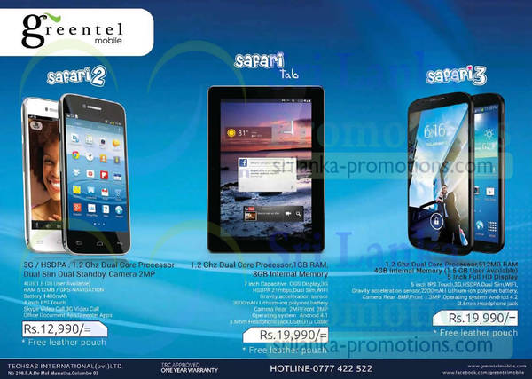 Featured image for Greentel Safari Smartphones & Tablet Features & Offers 27 Apr 2014