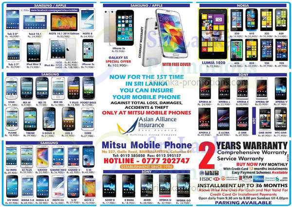 Featured image for Mitsu Mobile Phone Smartphones & Mobile Phones Price List Offers 27 Apr 2014