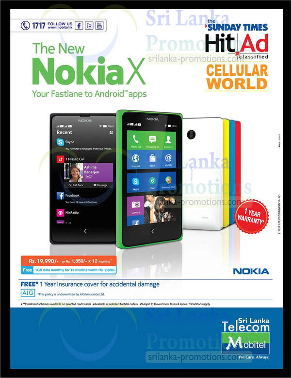 Featured image for Nokia X Now Available @ Mobitel 27 Apr 2014