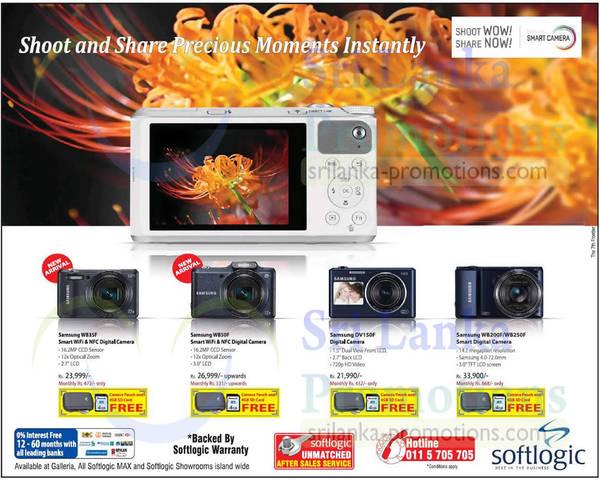 Featured image for Softlogic Samsung Digital Cameras Offers 27 Apr 2014