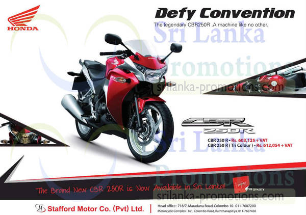 Featured image for Honda CBR250R Now Available In Sri Lanka 27 Apr 2014