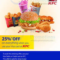 Read more about KFC 25% OFF Total Bill For Visa Cardmembers 2 - 31 May 2014