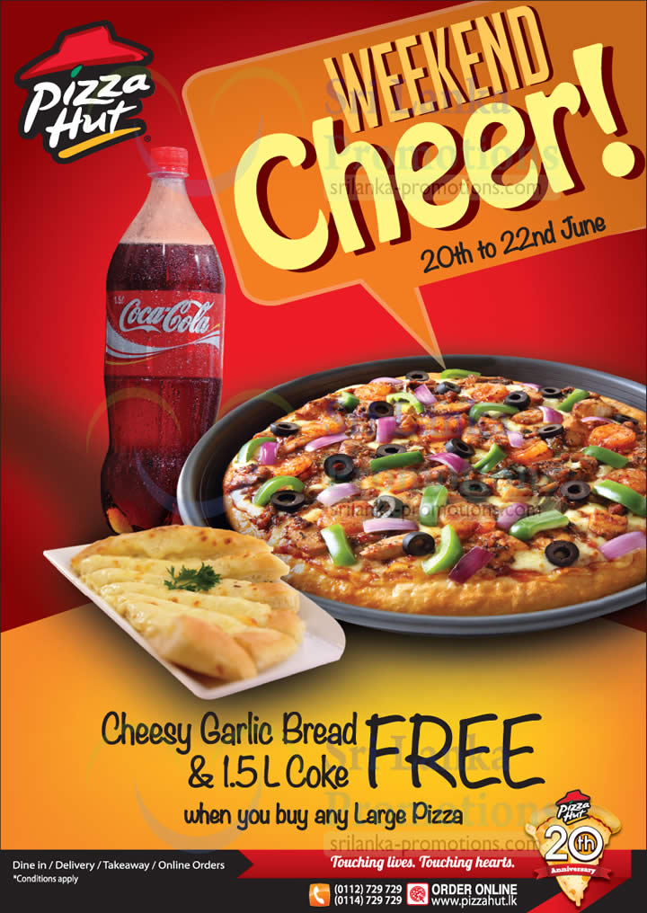 Customize your Veg Overloaded Pizza with Paneer for Rs. 20 per pizza or Pay Rs. 50 for a NonVeg upgrade per pizza and dine along your buddies with a sumptuous Pizza Hut offer. Family Fun Meal for 2 Get any medium pizza, a portion of Garlic Bread Stixs, and a Pepsi for Rs. with Family Fun Meal for 2 from Pizza Hut/5(K).