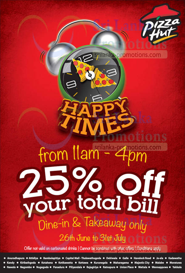 Featured image for Pizza Hut 25% OFF Storewide Happy Times Promo 26 Jun – 31 Jul 2014