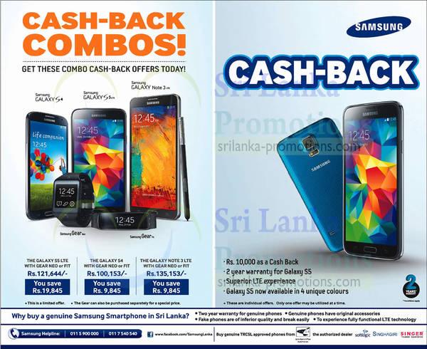 Featured image for Samsung Smartphones Cash-Back Combos 29 Jun 2014