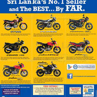 Check out the latest Bajaj motorcycle bikes prices from David Pieris Motor Company.