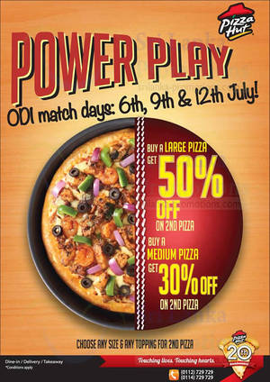 Featured image for Pizza Hut 50% OFF 2nd Pizza (Sun, Wed, Sat) 6 – 12 Jul 2014