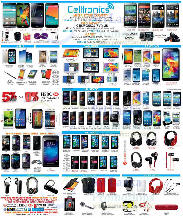 Featured image for Celltronics Smartphones & Mobile Phones Price List Offers 10 Aug 2014