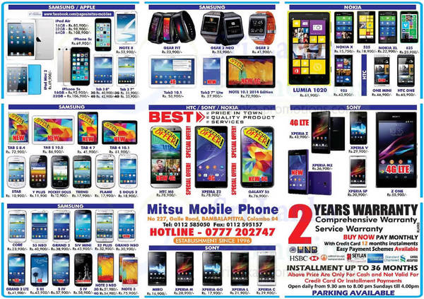 Featured image for Mitsu Mobile Phone Smartphones & Mobile Phones Offers 10 Aug 2014