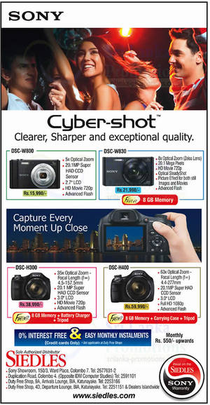 Featured image for Siedles Sony Digital Cameras Offers 10 Aug 2014