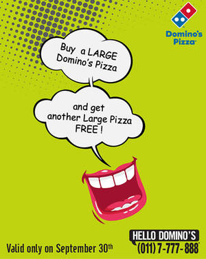 Featured image for Domino's Pizza Buy 1 Get 1 FREE 1-Day Promo 30 Sep 2014