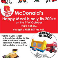 Read more about McDonald's Rs200 Happy Meal Children's Day Promo 1 Oct 2014