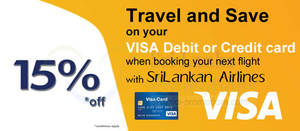 Featured image for SriLankan Airlines 15% OFF With Visa Cards 15 – 30 Sep 2014