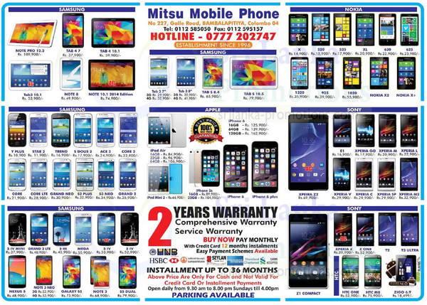 Featured image for Mitsu Mobile Phone Smartphones & Tablets Offers 5 Oct 2014