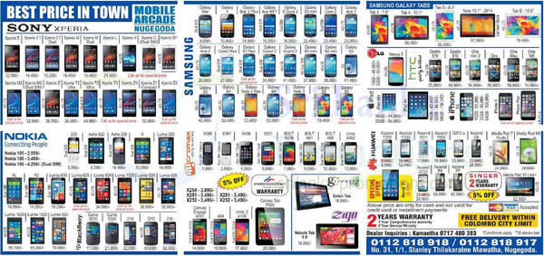 Featured image for Mobile Arcade Smartphones & Tablets Offers 5 Oct 2014