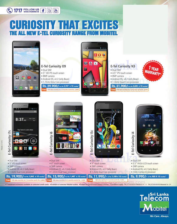 Featured image for Mobitel E-Tel Smartphones Offers 5 Oct 2014