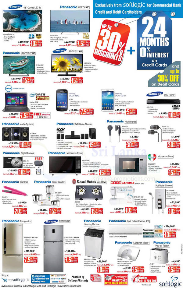Featured image for Softlogic Panasonic , Samsung & More Electronic Offers 5 Oct 2014