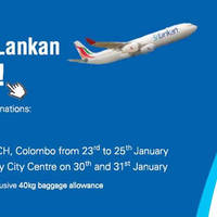 Read more about Srilankan Airlines Up To 30% OFF Fares @ EDEX Expo Kandy City Centre 30 - 31 Jan 2015