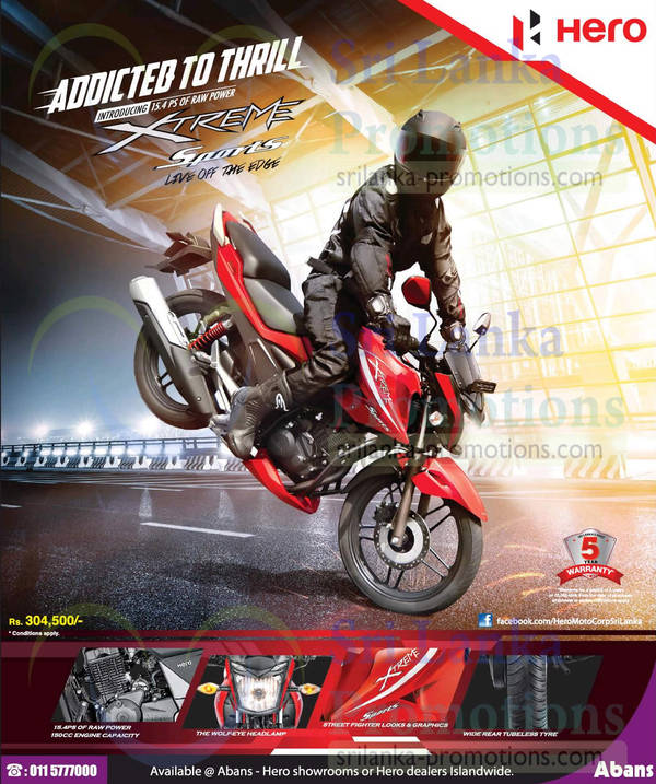 Featured image for Hero Xtreme Sports Bike Offer @ Abans 22 Mar 2015