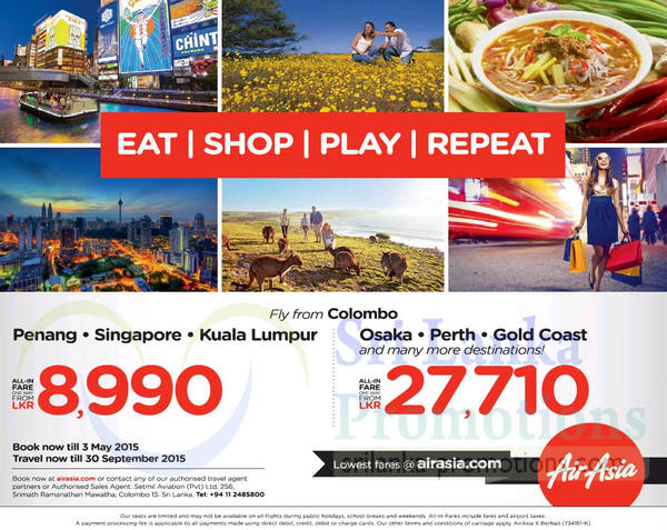 Featured image for Air Asia From Rs 8990 Promo Fares 27 Apr – 3 May 2015