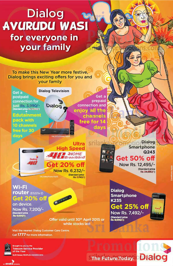 Featured image for Dialog Avurudu Offers 24 – 30 Apr 2015