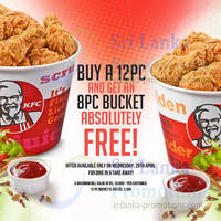 Read more about KFC Buy 12pcs Chicken & Get 8pc FREE 1-Day Promo 29 Apr 2015