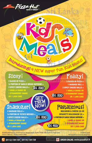 Featured image for Pizza Hut NEW Kids Meals 24 Apr 2015