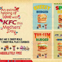 Read more about KFC Buy Two Zinger Meals & Get 1 Zinger Meal & 3 Sundaes FREE 9 - 10 May 2015