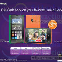Read more about Microsoft Lumia Devices 15% Cashvack Promo 18 May 2015
