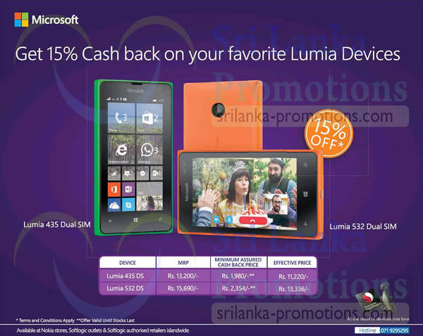 Featured image for Microsoft Lumia Devices 15% Cashvack Promo 18 May 2015