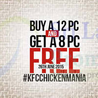 Read more about KFC Buy 12pcs Chicken & Get 8pc FREE 1-Day Promo 26 Jun 2015