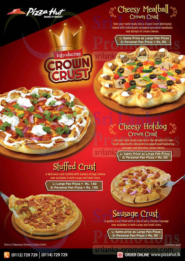 Featured image for Pizza Hut New Crown Crust Pizzas 26 Jul 2015