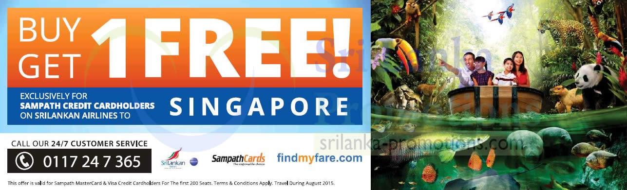 Srilankan Airlines Buy 1 Get 1 Free For Sampath Cardmember ...
