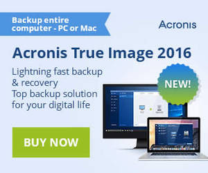 Featured image for Acronis True Image 2016 & Cloud Up To 60% Off Promotion 27 Sep – 1 Oct 2015