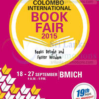 Read more about Colombo International Book Fair 18 - 27 Sep 2015
